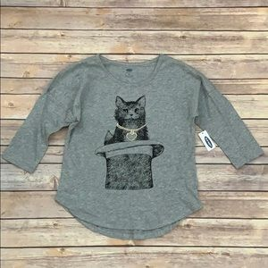 NWT Old Navy Cat In A Hat Top